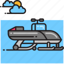 snow mobile, snowmobile icon