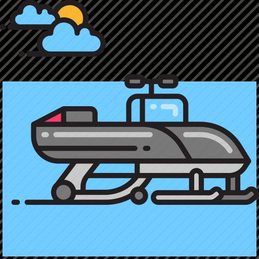 snow mobile, snowmobile icon