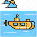 marine, sub, submarine, vessel icon