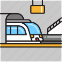 monorail, rail, subway, train