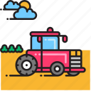 farm, tractor icon