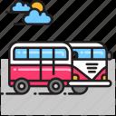 bus, minibus, minivan, van