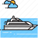boat, cruise, ship, yacht icon