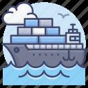cargo, tanker, ship, container icon