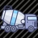 concrete, mixer, cement, truck icon