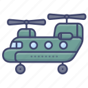 military, aircraft, helicopter, transportation icon