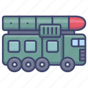 missile, vehicle, launcher, military icon