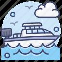 motorboat, boat, speedboat icon