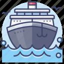 ship, cruise, boat, transport icon