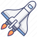 spaceship, shuttle, launch, space icon