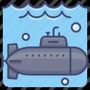 submarine, dive, navy, warfare icon