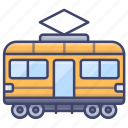 tram, tramway, train, retro