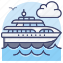 yacht, sail, boat, sailboat icon