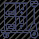 forklift, pallet, jack, transport icon
