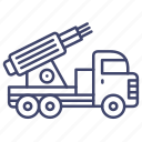missile, vehicle, military, launcher icon