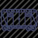 wagon, truck, railway, transportation
