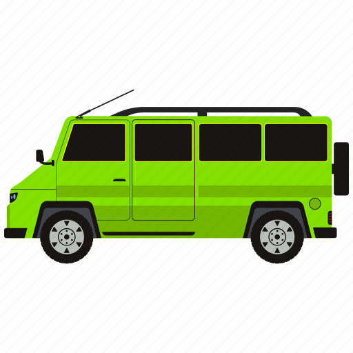 auto, automobile, bus, car, vehicle icon