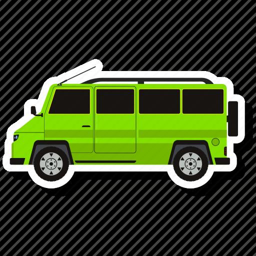 delivery, transport, van, vehicle icon