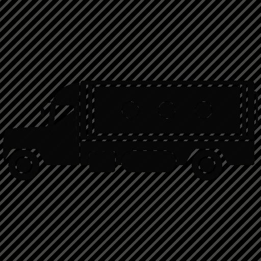 auto, transport, truck, van icon
