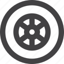 tire, traffic, transportion, vehycle, wheel icon