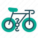 bicycle, cycle, holiday, transport icon