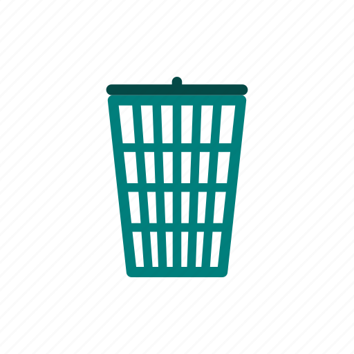basket, bin, can, garbage, rubbish, trash, waste icon