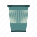 basket, bin, can, dustbin, garbage, trash, wastepaper icon