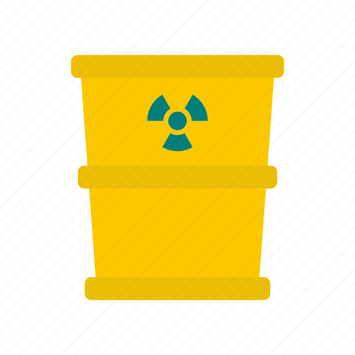 barrel, can, chemical, container, energy, radiation, trash icon