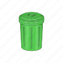 can, cartoon, garbage, recycle, rubbish, sign, trash icon