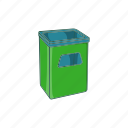 cartoon, dustbin, garbage, recycle, rubbish, sign, street icon