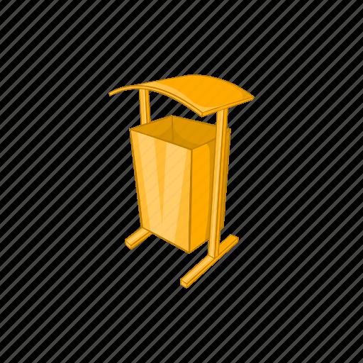 cartoon, dustbin, garbage, public, recycle, sign, spaces icon