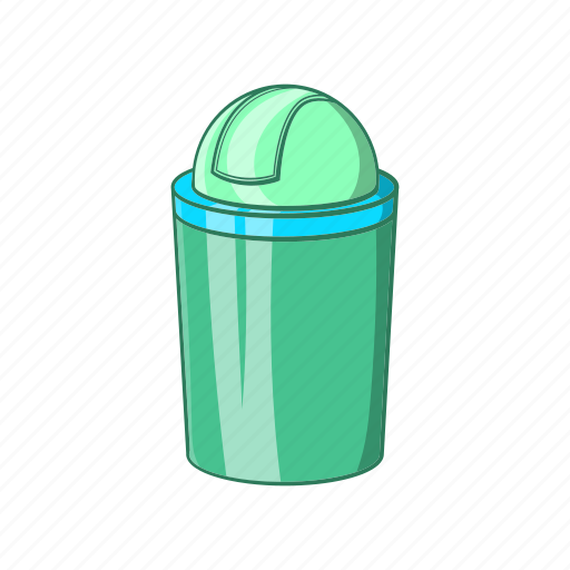 can, cartoon, container, green, sign, trash, waste icon