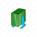 cartoon, garbage, green, legs, recycle, sign, trash icon