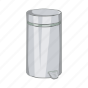 cartoon, container, garbage, home, sign, trash, waste icon
