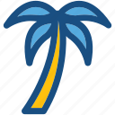 beach, coconut tree, palm, date tree, palm tree icon