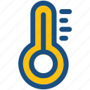 temperature scale, climate, weather, temperature, thermometer icon