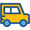 mini bus, coach, van, transport, vehicle icon