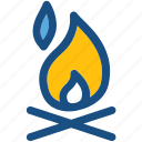 campsite, campfire, bonfire, camping, hiking icon