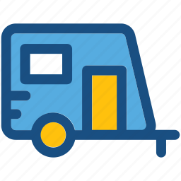caravan, convoy, living van, living vehicle, van dwelling icon