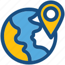 location pin, location marker, map locator, map pin, global location icon