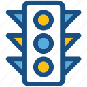 traffic lights, traffic semaphore, traffic lamps, signal lights, traffic signals icon