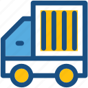 cargo, delivery van, shipping truck, shipment, vehicle icon