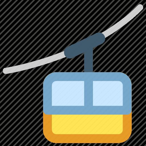 cable car, tourism, travel, trip icon