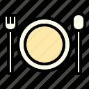 dinner, dish, rest, summer, travel icon