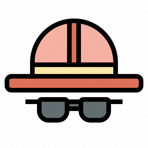 glasses, hat, rest, summer, sunglasses, travel icon