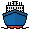 boat, cruise, ship, transport, travel, yacht icon
