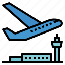 airplane, departure, flight, fly, takeoff, travel icon