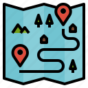 destination, direction, location, map, plan icon