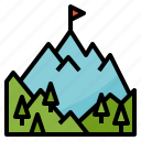 destinations, goal, landscape, mountain, nature icon