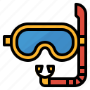 glasses, goggles, mask, scuba icon